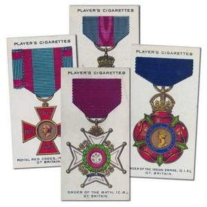 War Decorations & Medals Players (90) 1927 Cat. £67.50
