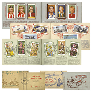 12 Cigarette Card Sets - In Album