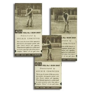 Golf Strokes (36 Cards) John Cotton Ltd 1936