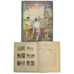 Zwerftochten Door Ons Land - 1930s Netherlands Cigarette Card Album