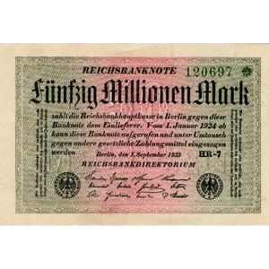 50 Million Mark Reichsbank bank note - 1923