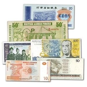 200 Different World Bank Notes