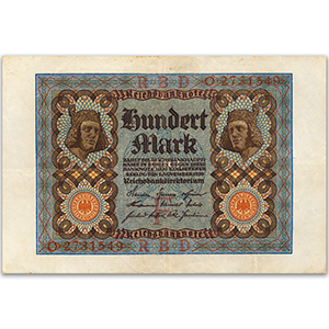 One Hundred Mark Reichsbank Note - 1920