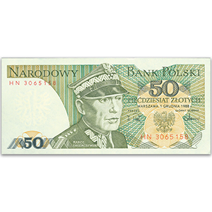 50 Zlotych Polish Bank Note