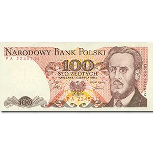 100 Zlotych Polish Bank Note