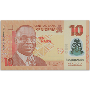 10 Naira Nigerian Bank Note