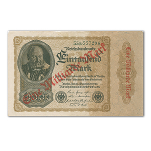 One Thousand Mark Reichsbank Note - 1922