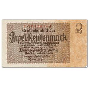 One Rentenmark Rentenbankschein Note - 1937