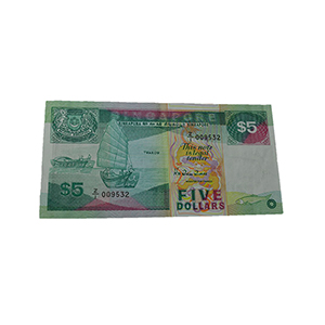 Singapore 1989 $5.00 'Z/I' Series Replacement Note