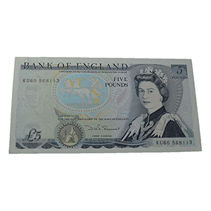 United Kingdom 1987-88 £5.00 Duke of Wellington, Sommerset Signed Note, Uncirculated
