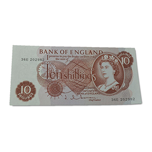 United Kingdom 1962-66 10/- Hollom Singed Note