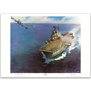 'Air Drop Beira Straits' 1967 Print by the Late Sir Terence Cuneo - LE