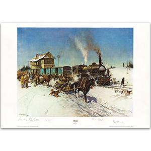 'Sleigh Post' Russia 1919 Print by the Late Sir Terence Cuneo - Limited Edition