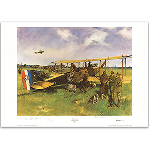 'First Air Post' Folkestone to Koln Print by  Sir Terence Cuneo