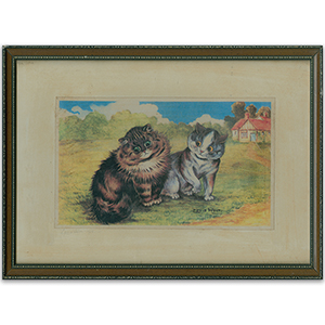 Louis Wain Lovely  Cat Print