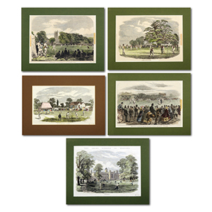 Cricket  Collection of ILN mounted pages