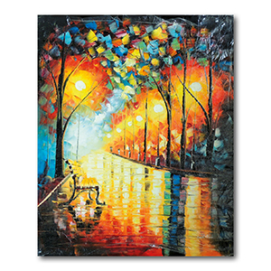 Loneliness of Autumn by Leonid Afremov Painting Recreation.