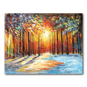 Morning Sun of January by Leonid Afremov Painting Recreation.