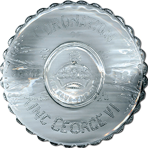 Commemorative Glass Plate - George VI Coronation 1937