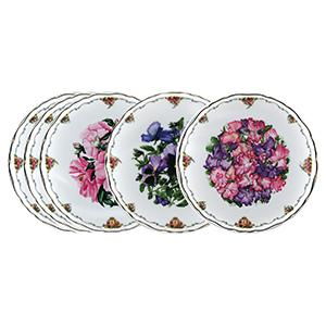 Royal Albert Collector Plates - The Queen Mother's Favourite Flowers - Set of 5