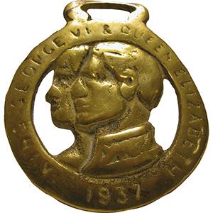 Horse Brass - George VI & Queen Elizabeth 1937
