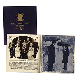 George V Silver Jubilee Large Presentation Book