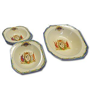 CWS Longton Commemorative Dishes - Edward VIII Coronation - Set of 5