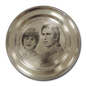 Solid Silver Plate - Chalres & Diana Royal Wedding 1981