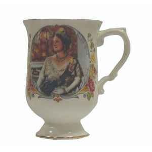 Crown China Commemorative Mug - Queen Mother's 80th Birthday 1980