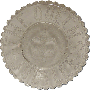 Commemorative Glass Plate - Queen Victoria Golden Jubilee 1887
