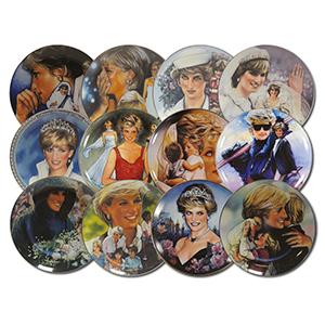 Princess Diana Decorative Plates - Set of 12