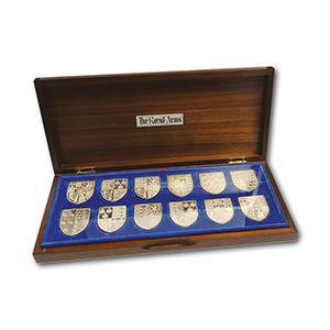 Danbury Mint - Silver Jubilee Royal Arms Set 1977 - Boxed