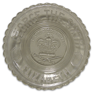 Commemorative Glass Bowl - King George VI Coronation 1937