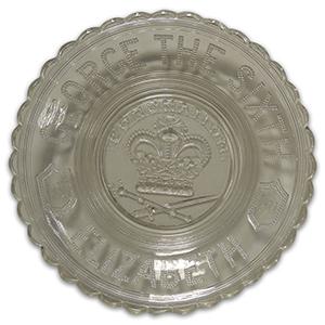 Commemorative Glass Bowl - King George VI Coronation 1937