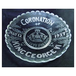 George VI Shallow Glass Coronation Bowl