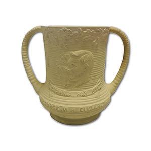 Sylvac Cream Loving Cup - King George VI Coronation 1937