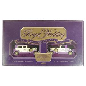 1991 Charles & Diana Anniversary Set Lledo cars
