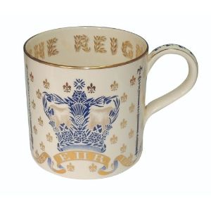 Wedgwood Guyatt Mug - 25th Anniversary of the Coronation of Queen Elizabeth II 1978