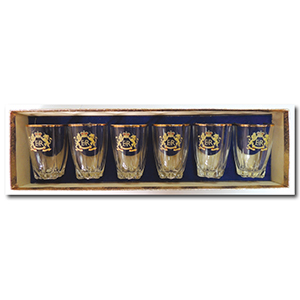 Small Commemorative Tumblers in Original Box - HM Queen Elizabeth II Coronation 1953 - Set of 6