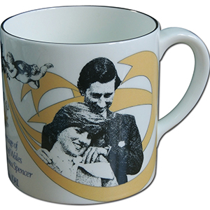 1981 Observer Edition Royal Wedding Crown Staffordshire Mug