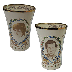 1981 Royal Wedding Staffordshire Enamel Limited Edition Beaker