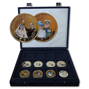 Diamond Wedding Gold Plated Coins
