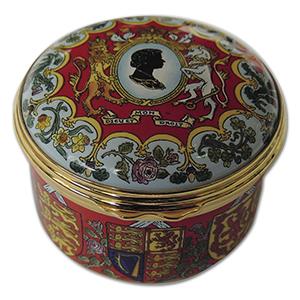 Halcyon Days Golden Jubilee Limited Edition Enamel Box