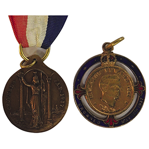Edward VIII Proposed Coronation Medals x 2