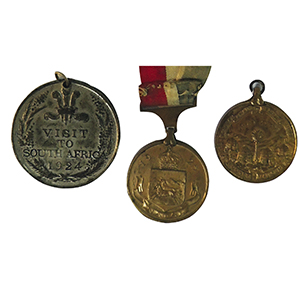Prince of Wales 1924/5 South Africa Medals x 3