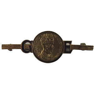 King Edward VIII 1937 Coronation Pin Badge