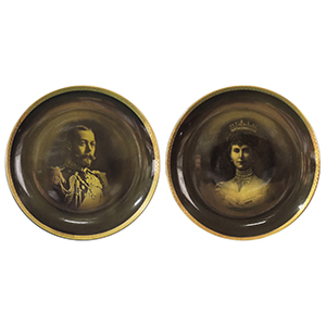 George V & Queen Mary Ridgways Plates