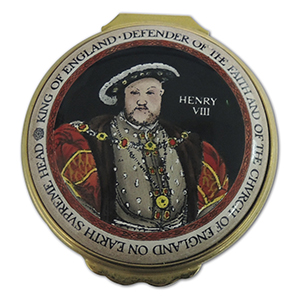 Halcyon Days Golden Henry VIII  Enamel Box