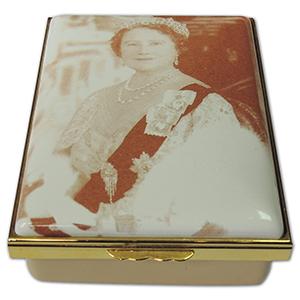 Halcyon Days Queen Mother Memoriam Ltd Ed. Enamel Box