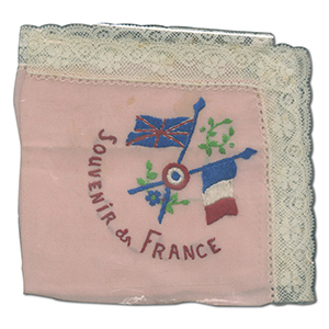 WWI Embroidered Handkerchief - Various Designs